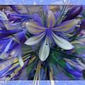 The Blue Flowers Of Melanie  by Daniel Arrhakis