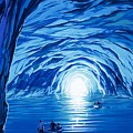 The Blue Grotto In Capri By Mcbride Angus  by Angus McBride