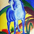 The Blue Horse Franc Marz by Asha Sudhaker Shenoy