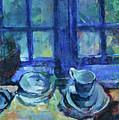 The Blue Kitchen by Ludvig Karsten