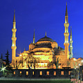 The Blue Mosque At Night Istanbul Turkey by Ivan Pendjakov