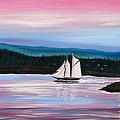 The Blue Nose II At Baddeck Nova Scotia by Patricia L Davidson