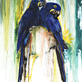 The Blue Parrots by Anthony Burks Sr