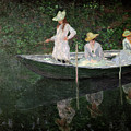 The Boat at Giverny by Claude Monet