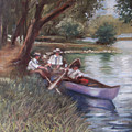 The Boating Men by Don Locke