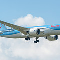 The Boeing 787-8 G-tuif Landing Thomson Tui Airline by Roberto Chiartanon TUI Airline