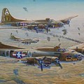The Bomb Run Over Schwienfurt by Scott Robertson