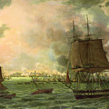 The Bombing Of Cadiz By The French  by Louis Philippe Crepin