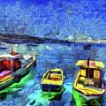 The Bosphorus Istanbul Art by David Pyatt