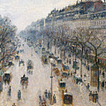 The Boulevard Montmartre On A Winter Morning, 1897  by Camille Pissarro