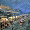 The Bowery At Night by William Sonntag