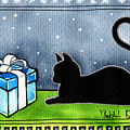 The Box Is Mine - Christmas Cat by Dora Hathazi Mendes