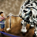 The Boy And The Lion 13 by Jean Francois Gil