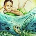The Boy And The Turtle by Elena Vedernikova