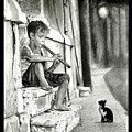 The Boy The Cat And A Flute by Rohan Abhijith Ramanuja
