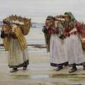The Breadwinners Or Newlyn Fishwives by Walter Langley