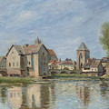 The Bridge And Mills Of Moret Sur Loing by Alfred Sisley