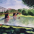 The Bridge At Ft. Benton by Andrew Gillette