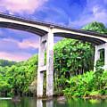 The Bridge At Honoli'i Beach by Dominic Piperata