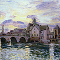 The Bridge Of Moret At Sunset by MotionAge Designs