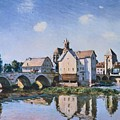 The Bridge Of Moret In The Sunlight by MotionAge Designs