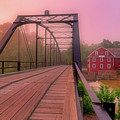 The Bridge To War Eagle Mill - Arkansas - Historic - Sunrise by Jason Politte