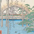 The Bridge With Wisteria by Hiroshige