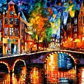 The Bridges Of Amsterdam by Leonid Afremov