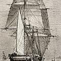 The Brig Hms Beagle From Journal Of by Vintage Design Pics