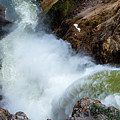 The Brink Of The Lower Falls Of The Yellowstone River by Frank Madia