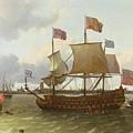 The Britannia In Rotterdam by Ludolf Backhuysen