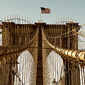 The Brooklyn Bridge Flag by Alissa Beth Photography
