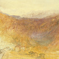 The Brunig Pass From Meiringen by Joseph Mallord William Turner