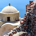 The Buildings And Walls Of Oia, Santorini, Greece by Global Light Photography - Nicole Leffer