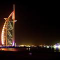 The Burj Al Arab At Night by Andrew Matwijec