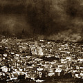The Burning Of San Francisco Panoramic View Of San Francisco From Twin Peaks April 1906 by California Views Archives Mr Pat Hathaway Archives