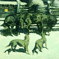 The Call For Help by Frederic Sackrider Remington