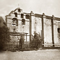 The Campanario, Or Bell Tower Of San Gabriel Mission Circa 1880 by California Views Archives Mr Pat Hathaway Archives