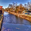 The Canal At New Hope In Winter by Christopher Lotito