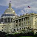 The Capitol Under Construction by Garrett Blum