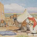 The Caravan, An Arab Encampment At Edfou by John Frederick Lewis
