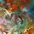 The Carina Nebula Panel Number Three Out Of A Huge Three Panel Set by Ricky Barnard
