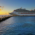 The Carnival Freedom At Sunset - Cozumel - Mexico by Jason Politte