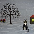 The Cat Is Waiting  by Melina Mel P