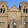 The Cathedral Basilica Of St. Francis Of Assisi, Santa Fe, New M by Debby Pueschel