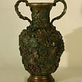 The Cedar Ridge - Wildflower Vase Prickly Pear Side by Dawn Senior-Trask