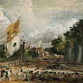 The Celebration In East Bergholt Of The Peace Of 1814 Concluded In Paris  by John Constable