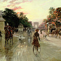 The Champs Elysees - Paris by Georges Stein