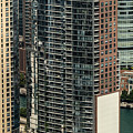 The Chandler Condominiums Building Chicago Aerial by David Oppenheimer