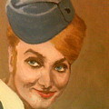 The Chic Stewardess Smiles by Peter Gartner